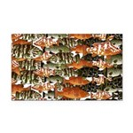 5 Grouper Pattern Rectangle Rectangle Car Magnet