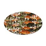5 grouper pattern Oval Car Magnet