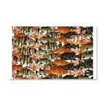 5 grouper pattern Car Magnet 20 x 12