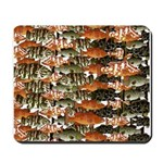 5 grouper pattern Mousepad