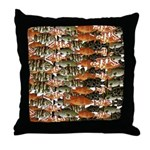 5 grouper pattern Throw Pillow