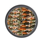5 grouper pattern Wall Clock