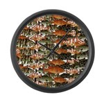 5 grouper pattern Large Wall Clock