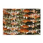 5 grouper pattern 5'x7'Area Rug