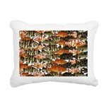 5 grouper pattern Rectangular Canvas Pillow
