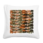 5 grouper pattern Square Canvas Pillow