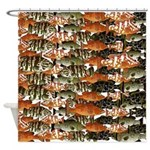 5 grouper pattern Shower Curtain