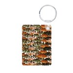 5 grouper pattern Keychains