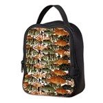 5 grouper pattern Neoprene Lunch Bag