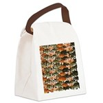 5 grouper pattern Canvas Lunch Bag