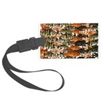 5 grouper pattern Luggage Tag