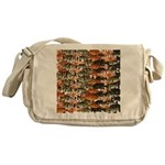 5 grouper pattern Messenger Bag