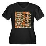 5 grouper pattern Plus Size T-Shirt