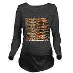 5 grouper pattern Long Sleeve Maternity T-Shirt
