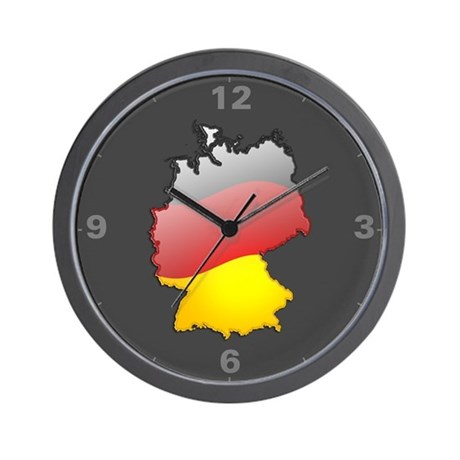 """Germany Bubble Map"" Wall Clock"