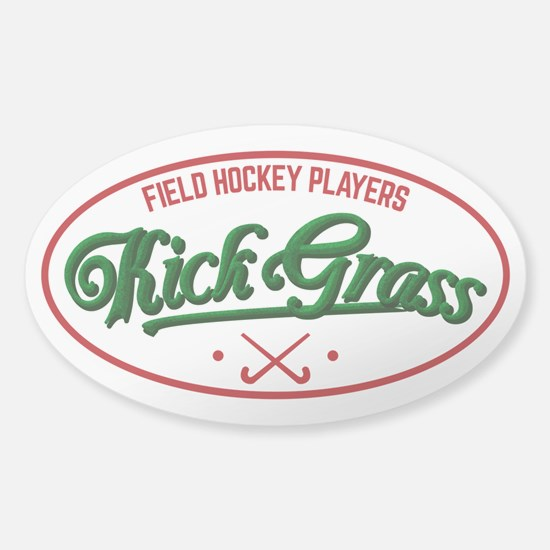 Field Hockey Players Kickgrass Decal