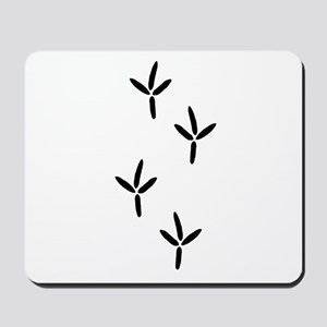 Birdwatching - Bird Footprints Mousepad