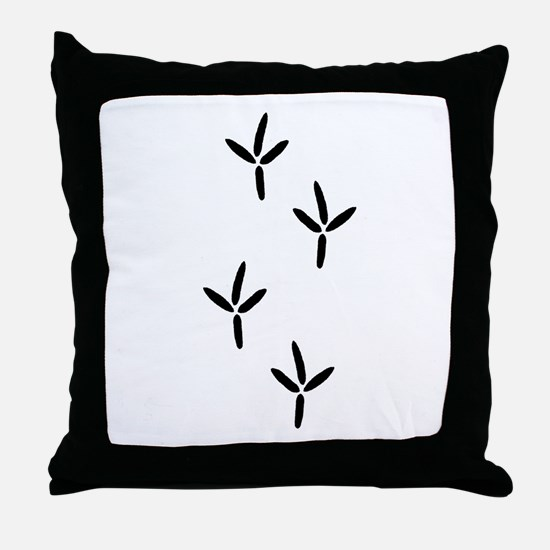 Birdwatching - Bird Footprints Throw Pillow