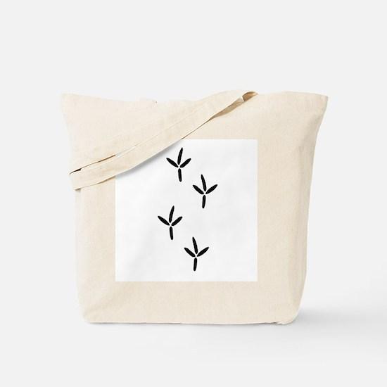 Birdwatching - Bird Footprints Tote Bag