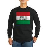 """Made in Hungary"" Long Sleeve Dark T-Shirt"