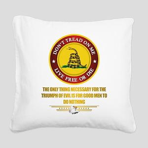 (DTOM) Triumph Over Evil Square Canvas Pillow