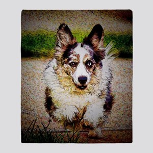 Cardigan Welsh Corgi Throw Blanket