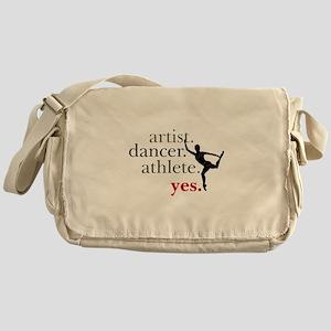 Artist. Dancer. Athlete. Yes. Messenger Bag