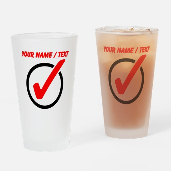 Custom Checkmark Drinking Glass