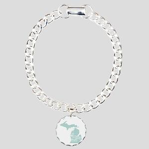 Michigan Charm Bracelet, One Charm