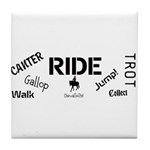 Horse Theme Design #70000 Tile Coaster
