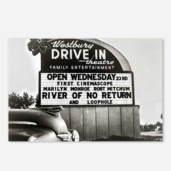 Drive-In Theater Marquee, Postcards (Package of 8)