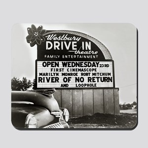 Drive-In Theater Marquee, 1954 Mousepad