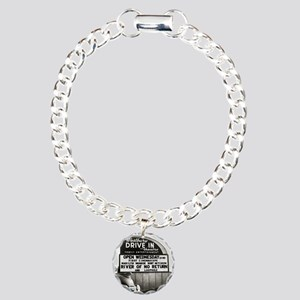 Drive-In Theater Marquee Charm Bracelet, One Charm