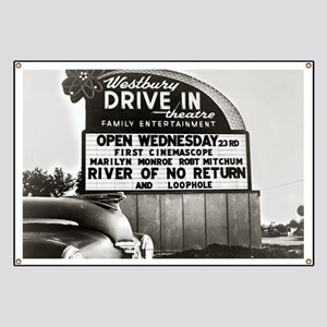 Drive-In Theater Marquee, 1954 Banner