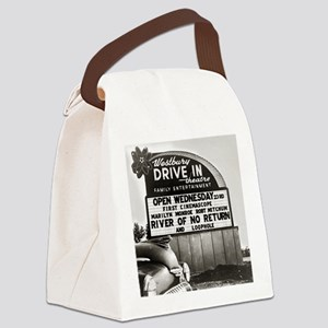 Drive-In Theater Marquee, 1954 Canvas Lunch Bag