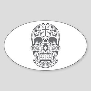 SugarSkull Grey-01 Sticker