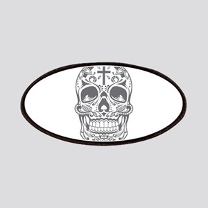 SugarSkull Grey-01 Patches