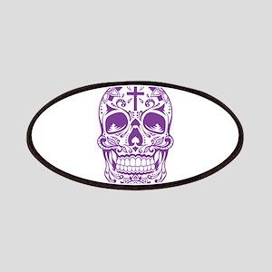 SugarSkull Purple-01 Patches