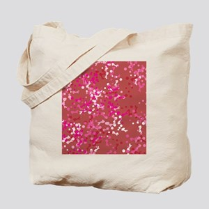 Cherry Blossom theme abstract paint splashes Tote