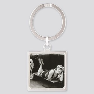 Bathing Beauty, 1918 Square Keychain