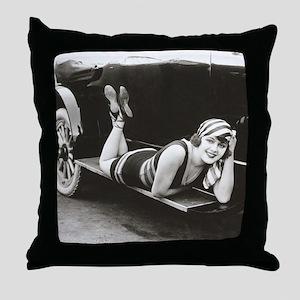 Bathing Beauty, 1918 Throw Pillow