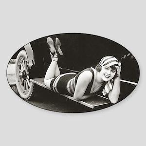Bathing Beauty, 1918 Sticker (Oval)