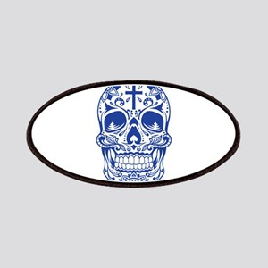SugarSkull Blue-01 Patches