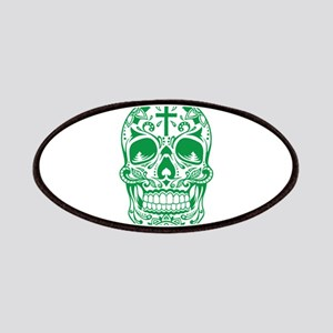 SugarSkull Green-01 Patches