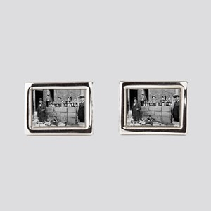 Agents With Seized Bootleg Whiskey, 1922 Cufflinks