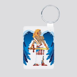 St. Michael Aluminum Photo Keychain