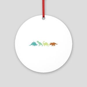Prehistoric Medley Border Ornament (Round)