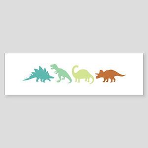 Prehistoric Medley Border Bumper Sticker