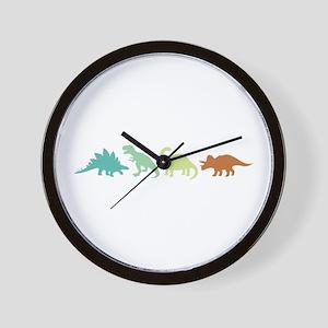 Prehistoric Medley Border Wall Clock