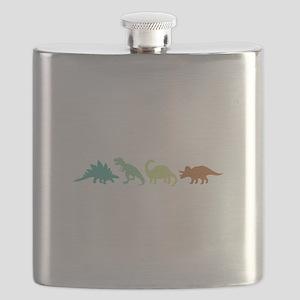 Prehistoric Medley Border Flask